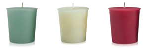 velas decorativas e aromatizadas