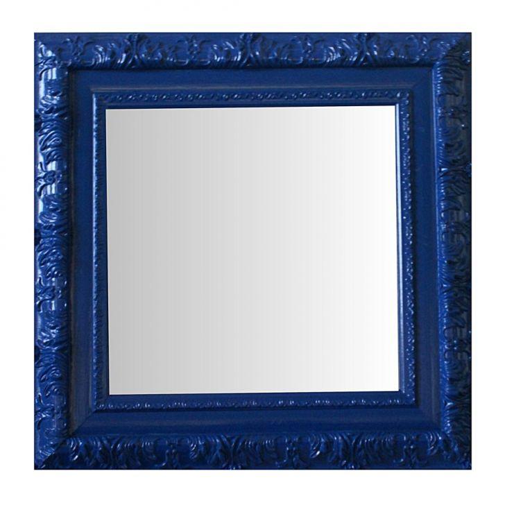 Espelho Moldura Rococó Externo 16347 Azul Art Shop