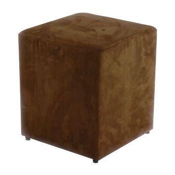 Puff Quadrado Box Suede Marrom Absolut Cod: AB011UP79QZWMOB