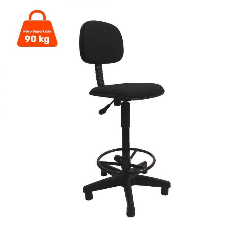 Cadeira Caixa Giratória Tecido Preta Cod: 7898917635018