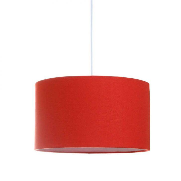 Pendente Nice Tecido Vermelho Redondo Cod: AV900LI69SKOMOB