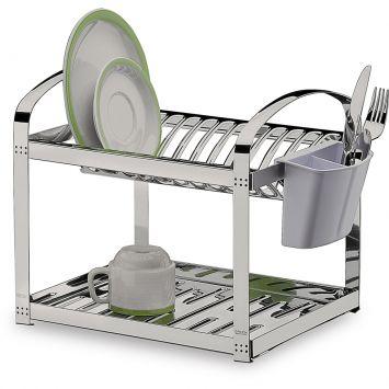Escorredor de pratos e talheres inox suprema 29 cm