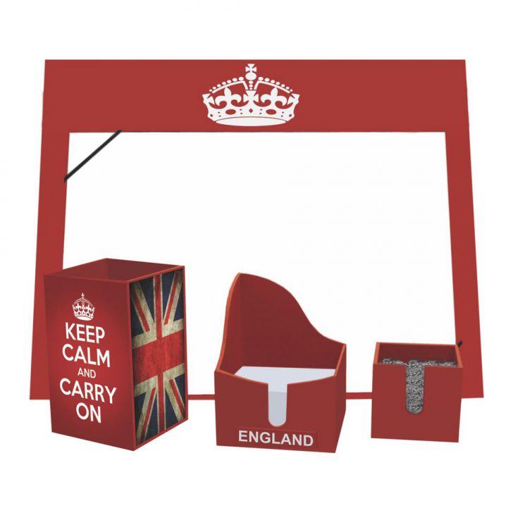 Kit Office England 28X35 Vermelho Kapos