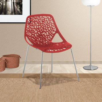 Cadeira helena vermelha