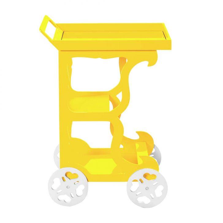 Carrinho de Chá Retrô Amarelo Cod: MU003CL39CJKMOB