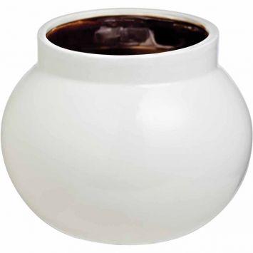 Vaso kros 18cm branco cobre