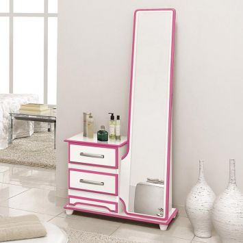 Penteadeira encantus branco com rosa