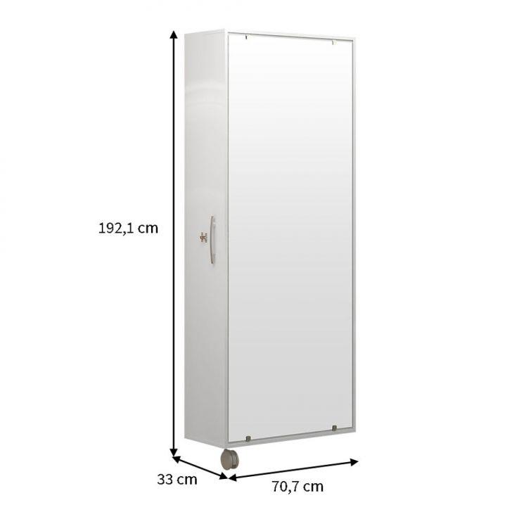 Sapateira com Espelho Itú 1 Porta e 16 Prateleiras Branco Politorno Cod: 7898442015620