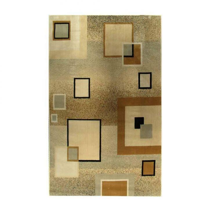 Tapete Marbella Quadrado Preto 198x300 cm Rayza