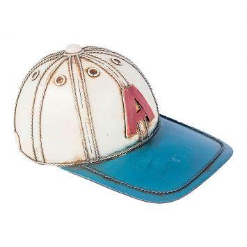 Boné Baseball Mini Branco e Azul Oldway 9x20,5x13 Cod: OL960AC09EGWMOB