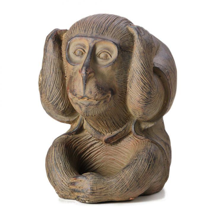 Macaco de Resina Não Escuto 21 cm Cod: 7899768035064