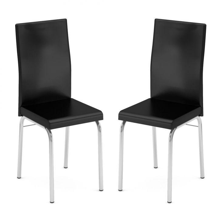 Conjunto 2 Cadeiras C - 692 Facto Preto Cod: BR558CH98GZHMOB