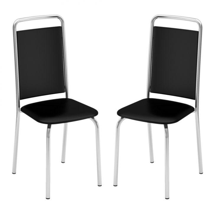 Conjunto 2 Cadeiras C - 724 Facto Preto Cod: BR558CH88GZRMOB