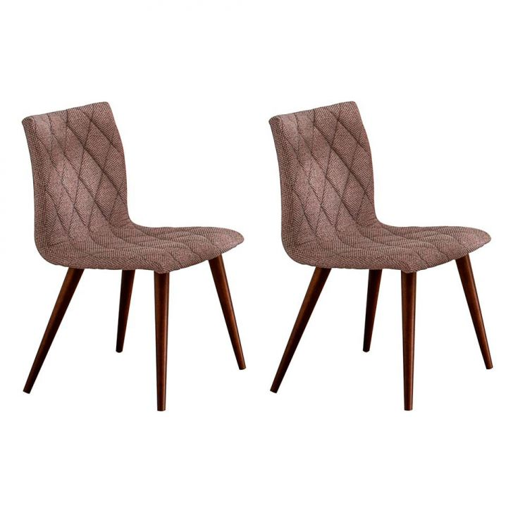 Conjunto 2 Cadeiras Seira Tecido Palha Mesclado Cod: PO753CH68EFNMOB