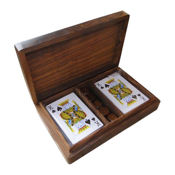 Caixa de Madeira C Cards&Dados Oldway Cod: OL960AC58BIZMOB