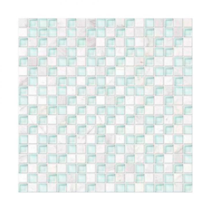 Placa De Vidro Com Pedra Petrus GS098 Branco Opaco Cod: CO674HI48VXVMOB