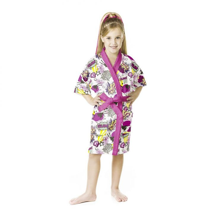 Roupão Felpudo Barbie Super Princesa Quimono M Cod: LE154AC18QBDMOB