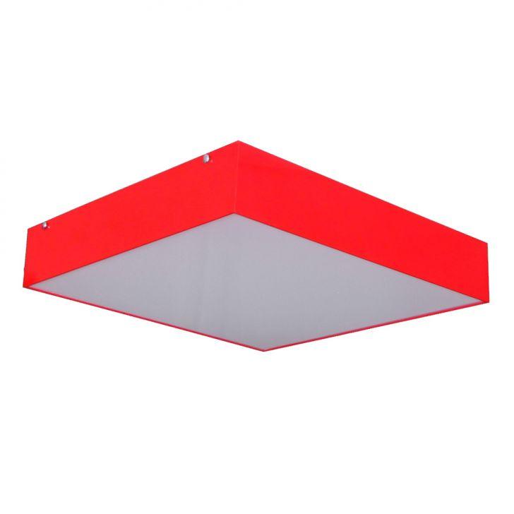 Plafon Sobrepor Acrilico Pequeno Vermelho Attena