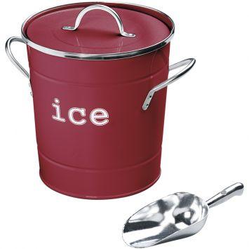 Balde gelo carmim vermelho