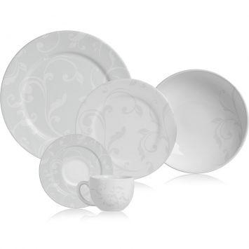 Jogo de jantar all white 30 pcs