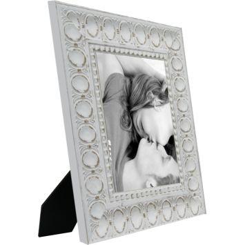 Porta retrato 1 foto 10x15 cm ornado branco