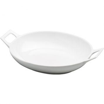 Bowl oval com alcas branco