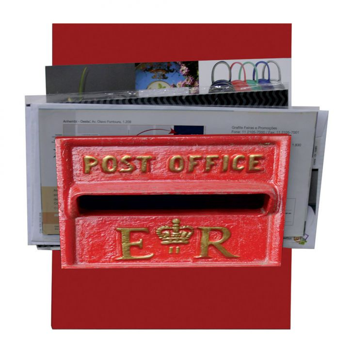 Porta-Correspondências Post Office 20X25 Vermelho Kapos