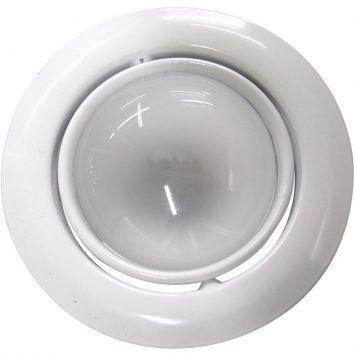 Luminaria de teto embutido dirigivel e 27 60w com lampada refletora 127v branco