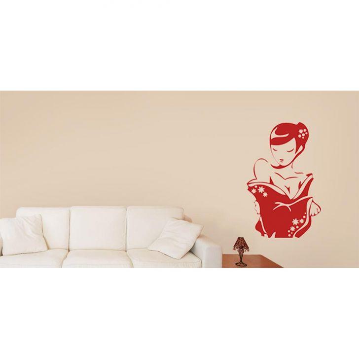 Adesivo de Parede Sala Gueixa 77x120 cm Haus For Fun Cod: HA683AC77SQKMOB