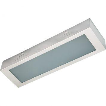 Plafons escovado vidro branco 3 l60w