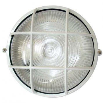 Arandela tartaruga circular 18cm aluminio e 27 1 lampada max 60w com grade branca