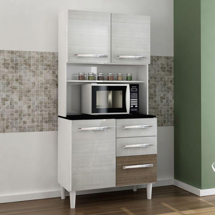 Kit de Cozinha Montreal 4 Portas Ravena e Ferrara CSA Móveis Cod: CS197CL47BKIMOB