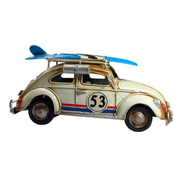 Mini Vintage Fusca Herbie M ZD2415 Branco Cod: ZU169AC47OFWMOB