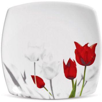 Prato sobremesa sobremesa tulipa 18 cm 6 pcs