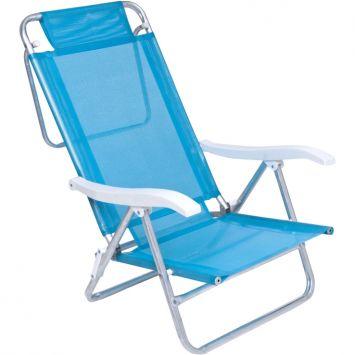 Cadeira de praia sol de verao fashion turquesa