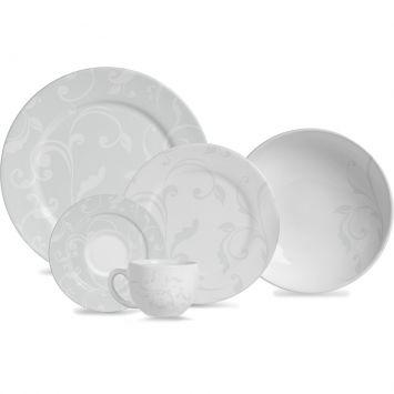Jogo de jantar all white ceramica 20 pcs