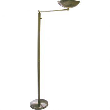 Luminaria coluna articulada halogena 150w com dimmer ouro velho