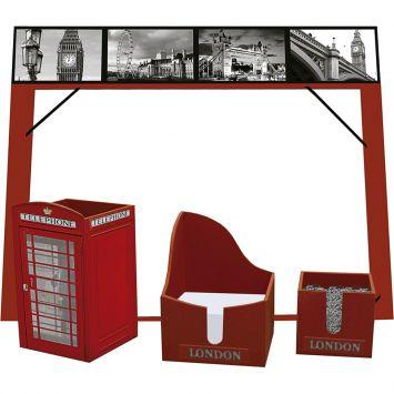 Kit office londres vermelho 61111