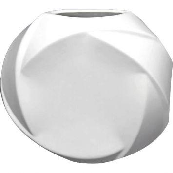Vaso ceramica oval 24 5 cm branco