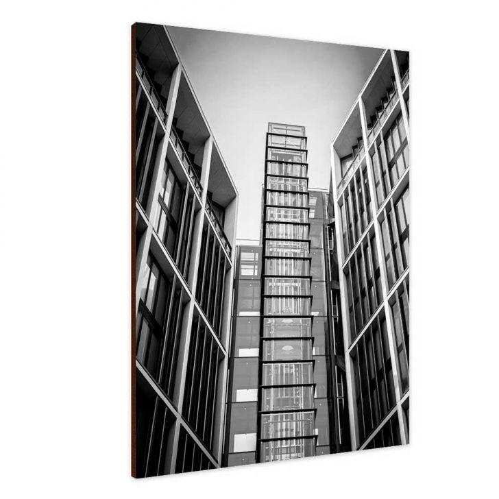 Quadro Placa Decorativa 28400004 Edificio Preto e branco Cod: GA267AC07OQAMOB