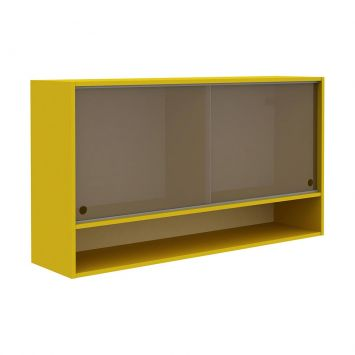 Armário Aéreo Colors Gold e Vidro Reflecta Cod: GL069CL07NHKMOB