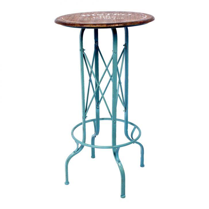 Mesa Para Jardim Bistrô Paris Azul Oldway Cod: OL960TA96NSLMOB