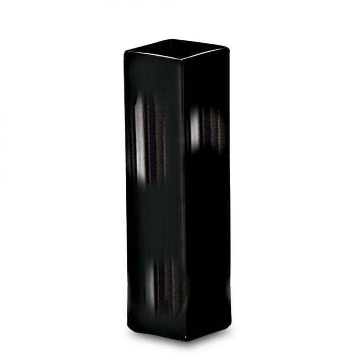 Vaso Quadrado Preto 29cm
