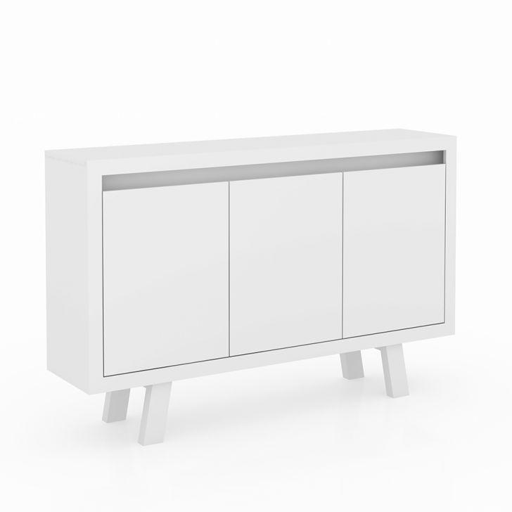 Balcão de Escritório 3 Portas Me4120 Branco Tecnomobili Cod: 7898605274154
