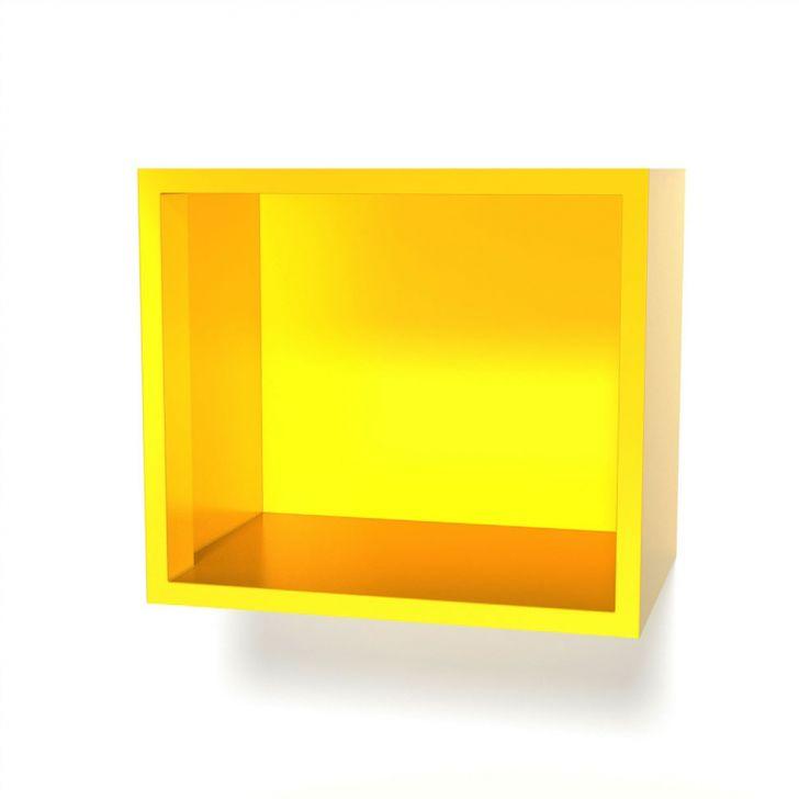 Nicho Play Aço 40x35 Amarelo Curry Casamob