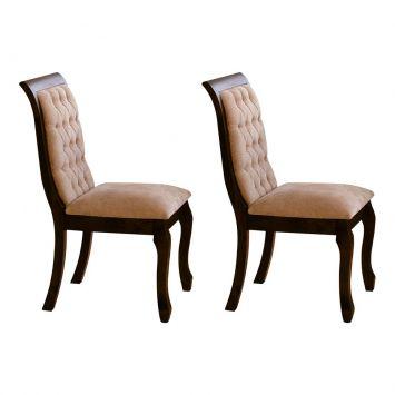 Conjunto 2 Cadeiras Sofia sem Braço Caramelo Cod: MD260CH46FNXMOB