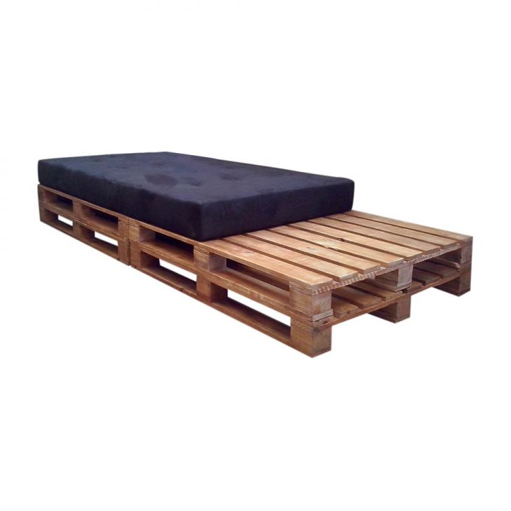 Chaise Longue Pallet Natural Cru Suede Preto Cod: MD260UP26MBXMOB