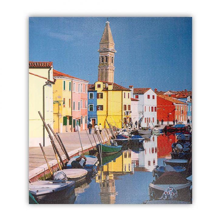 Tela Impressa Barcos no Canal Fullway 50x60x3 Cod: FU961AC26ECJMOB