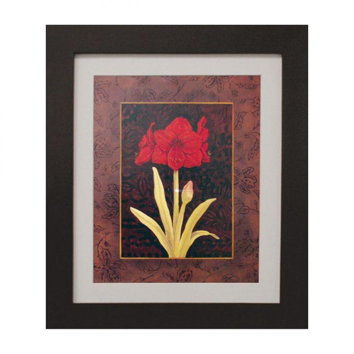 quadro-montado-com-vidro-e-papel-red-flower-i-30x35cm