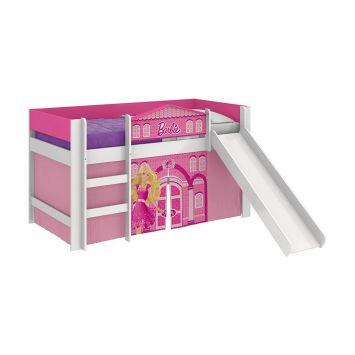 Cama com Escorregador Barbie Play Pura Magia Cod: PU077BE16MCHMOB